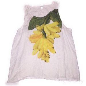 XL J. Crew banana sleeveless top